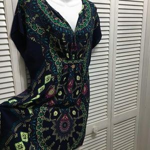 ae4a327509 Anthropologie Maeve silk gypsy boho dress tunic Sm